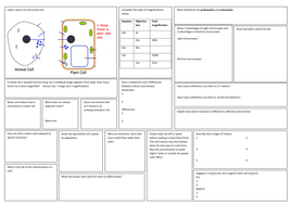 New AQA GCSE Cells Revision broadsheet
