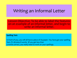 Informal letter writing lesson and resources by john421969 jpg informal letterppt spiritdancerdesigns Choice Image