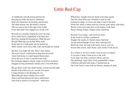 little red cap poem