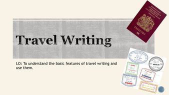 Travel writing introduction