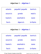 Adjectives in Spanish Worksheets (18 Spanish adjectives worksheets)