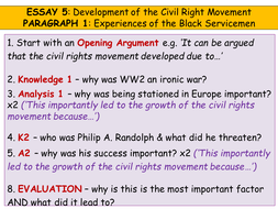 Higher History Usa Essay  Development Of The Civil Rights Movement   Planforparagraphpptx