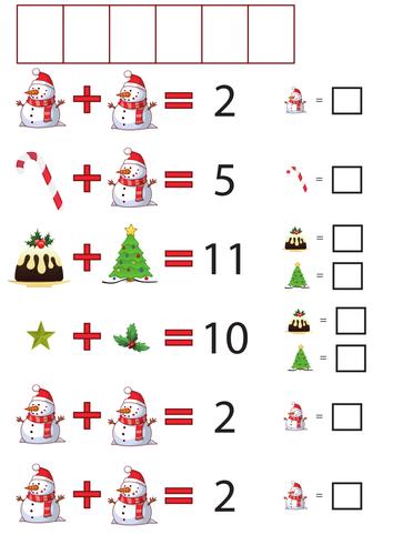 Maths: Christmas addition codes