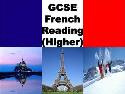 GCSE-HIGHER-FRENCH-READING.pptx