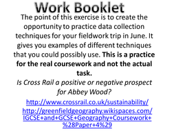 practice fieldwork techniques human coursework data collection  data collection workbook pptx