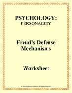 Coordinate Planes Worksheets Excel Psychology Defense Mechanisms Worksheet By Myresourcesgalore  Sudoku Worksheets With Answers Pdf with 11 Grade Math Worksheets Pdf Defencemechanismworksheetpdf Exponent Review Worksheet Pdf