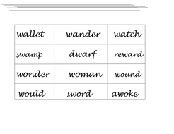 Spelling practice sheets 'wa & wo letter strings'. Look, cover, write,  check. Differentiated