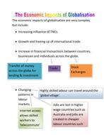 Economic Impacts Globalisation
