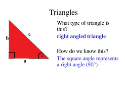ks3 triangles introduction powerpoint by anon2505992921746802