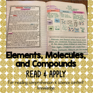 Elements Molecules and Compounds Read and Apply Activity