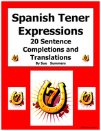 Spanish Tener Expressions with Ir A + Infinitive Sentence Completions Worksheet