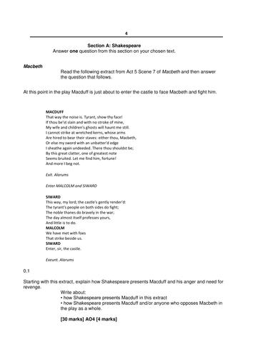 Macbeth exams etc aqa lit gcse by josephs15 teaching resources tes fandeluxe Gallery