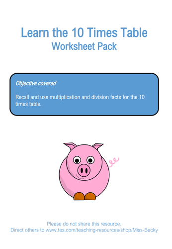 2, 5 and 10 Times Table Worksheets Year 2 Bundle by Miss-Becky ...
