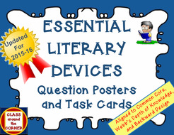 65 Essential Literary Devices Question Posters And Task Cards By