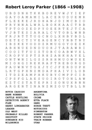 Butch Cassidy Wild Bunch Word Search