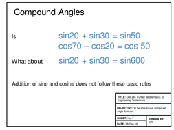 Maths for Engineers - Compound Angles and Harmonic Form