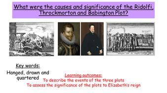 The significance of the Ridolfi, Throckmorton and Babington plots