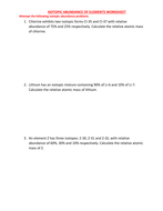 ISOTOPE WORKSHEET WITH ANSWERS