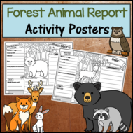 Forest Animal Research Activity Posters