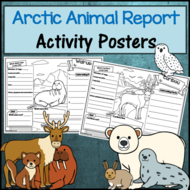 Arctic Animal Research Poster Activity Sheets