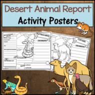 Desert Animal Research Activity Posters