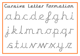 Cursive Alphabet Posters and Cursive Formation Practice by ...