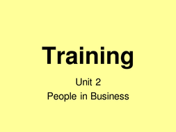 Types of Training including Induction, On-the-Job and Off-the-Job