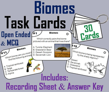 Biomes Task Cards