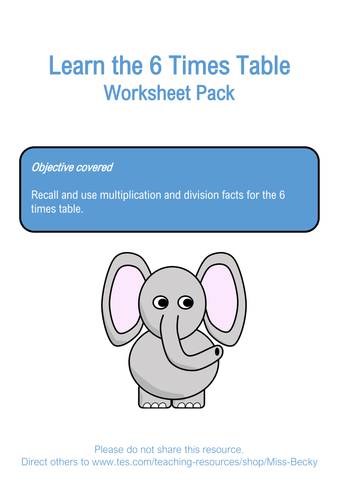 The Ultimate Times Table Worksheet Bundle by Miss-Becky - Teaching ...