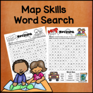 Map Skills Word Search *Easy