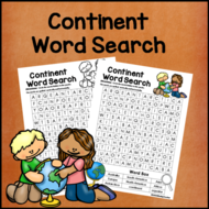 Continent Word Search *Easy