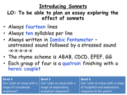 what is the rhyme scheme of sonnet 43