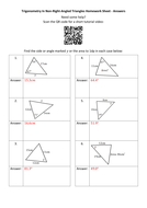 Trigonometry-(Non-Right-Angled-Triangles)-Homework-Sheet---Answers.docx