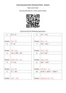 Factorising-Expressions-Homework-Sheet---Answers.docx