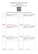 Solving-Quadratics-Homework-Sheet---Answers.docx