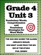 Grade 4 Unit 3 Reading Vocabulary Word Wall Words