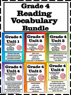 Bundle of Grade 4 Reading Vocabulary Word Wall Words