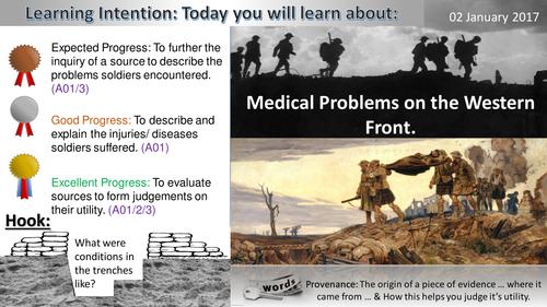 Medicine on the Western Front: WWI Medical Problems (GCSE 1-9)