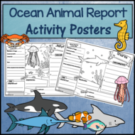 Ocean Animal Research Activity Posters