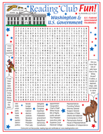 US Federal Government Vocabulary Word Search Puzzle