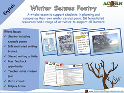 English - Poetry - Winter Senses Poem