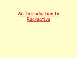 AQA A Level Lang/Lit Recreative