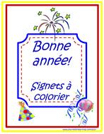 Bonne année!Signets à colorier