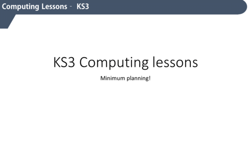 15 Complete KS3 Computing lessons