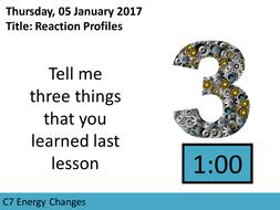 AQA GCSE C7 Energy Changes L4 Reaction Profiles