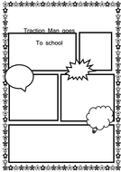 traction man comic strip template  Traction Man Literacy planning for KS6
