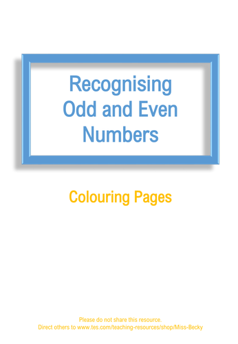 Recognising Odd and Even Numbers - Colouring Pages (Differentiated ...
