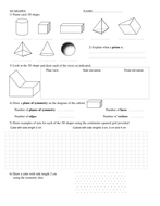 Maths Addition Worksheets For Grade 1 Excel D Shapes Worksheet By Silvestertim  Teaching Resources  Tes Worksheets On Adding And Subtracting Decimals Pdf with Setting Boundaries In Relationships Worksheet Pdf Worksheet Dshapes Grade 5 Fractions Worksheets Excel