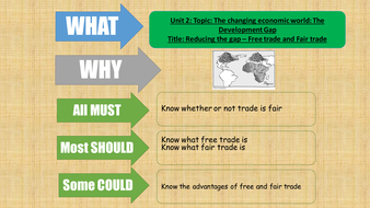 AQA Geography 2016 - The changing economic world - Free trade and Fairtrade