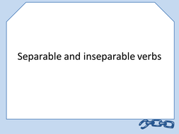 Separable and Inseparable Verbs - Trennbare Verben